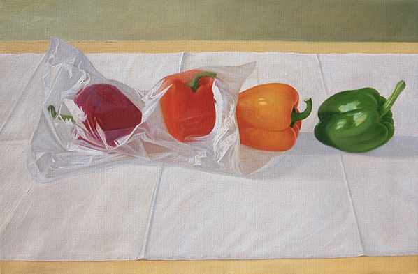 Peppers in plastic