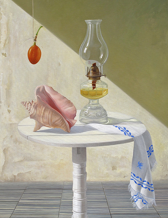 Still Life with Shell and lamp
